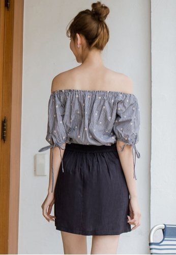 a48923ebd534c0 Buy Tokichoi Flower Striped Off Shoulder Top Online on ZALORA Singapore
