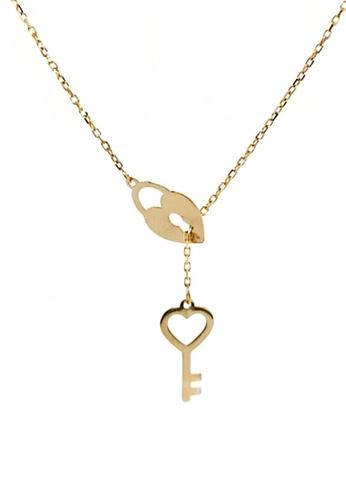 KARAT WORLD gold HQZ 18Kt Yellow Gold Chain Pendant 01222ACB4DB2A2GS_1