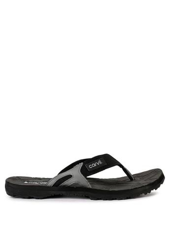 CARVIL black and grey Sandal Sponge Man Alto 974A6SH6C72FA3GS_1