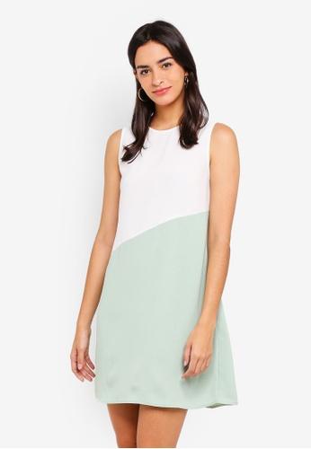 ZALORA multi Colorblock Flare Dress BEA33AA291ACE4GS_1