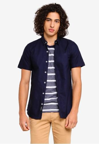High Cultured blue Short Sleeve Shirt - 51 C4856AACD4092EGS_1