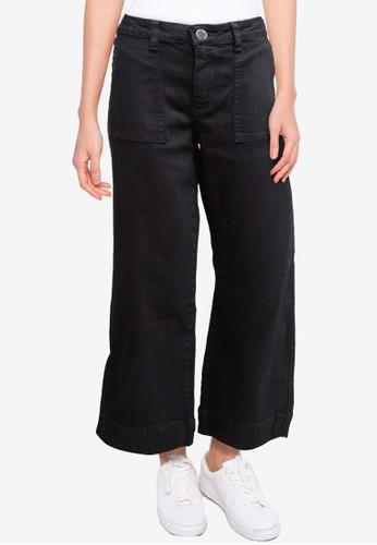 Denim Addict black Women Rolled Up Wide Leg Denim Pantts B299CAA361E560GS_1