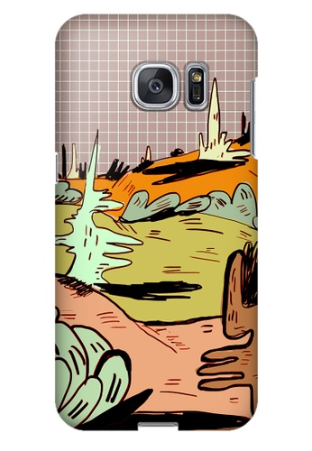 Wonder Cover red Valley of Confusion Hard Case for Samsung Galaxy S7 Edge WO617AC25PCKPH_1