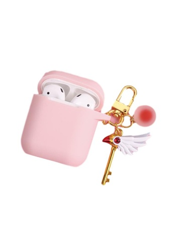 Kings Collection pink Cute Scepter Keychain AirPods Case (KCAC2010) E60DEAC7CABB63GS_1
