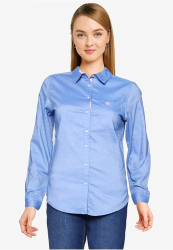 Springfield blue Oxford Shirt 27049AA7282A1BGS_1