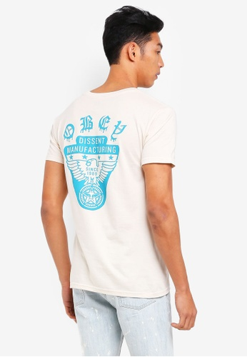 OBEY beige Obey Eagle Shield Tee 5493AAAC111230GS_1