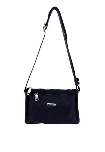 Mel&Co black Nylon Sling Bag 72D12ACF64872EGS_1