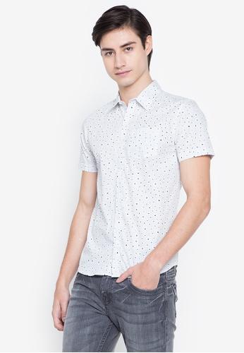 BNY white Full Print Short Sleeve Shirt 89607AA0B93C59GS_1