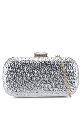 Papillon Clutch silver Weaved Clutch C1E19ACE9EED2AGS_1
