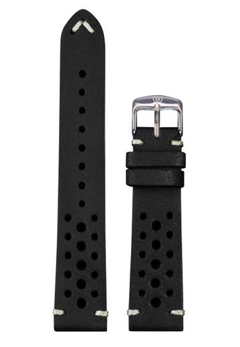Undone black Undone Rally Black Calf Leather Strap 20mm (Silver Buckle) UN712AC2VEJLHK_1