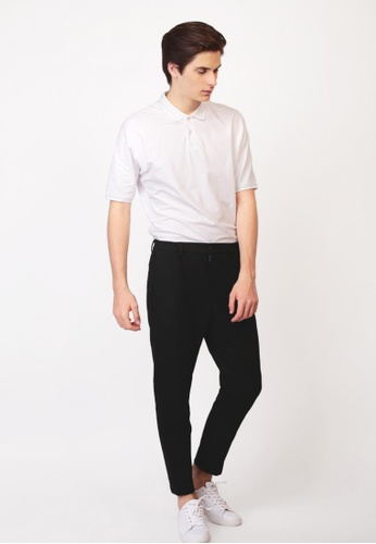 A for Arcade black Centre Crease Tapered Trousers In Black AF376AA0GJ8SSG_1