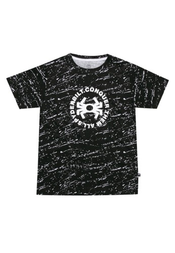 Spyderbilt black Storming Kids Tee 8D482KA910BAB8GS_1