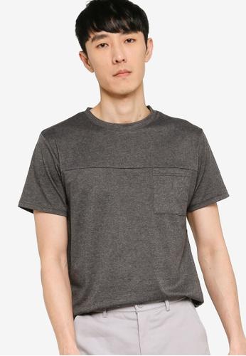 ZALORA BASICS grey Utility T-Shirt 1606DAA1AE51EFGS_1