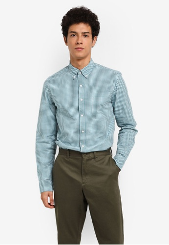 J.Crew 藍色 Men's Slim Stretch Secret Wash Parker Gingham 78805AA6077771GS_1