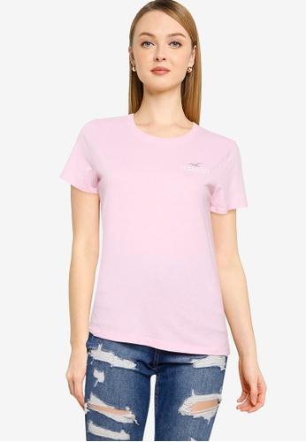 Hollister pink Foil T-Shirt 77AD2AA81D6D9BGS_1