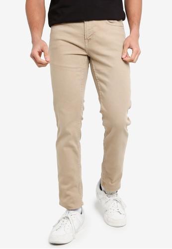 Only & Sons brown Loom Life Slim Twill Jeans B1C68AAD4EFDDFGS_1