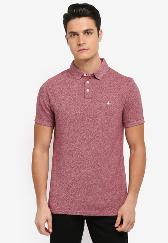 Jack Wills red Langold Jaspe Pique Polo E3EACAAC99A6ACGS_1