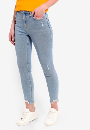 LC Waikiki blue Ankle-Length Skinny Jeans 211D2AA9F865B5GS_1