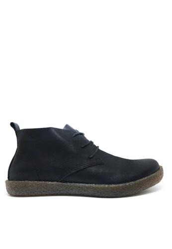 Twenty Eight Shoes 黑色 男裝真皮高桶皮靴 MC2258 CBF07SHD26D570GS_1