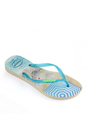 Havaianas multi and beige Slim Paisage Flip Flops CD915SHF575635GS_1