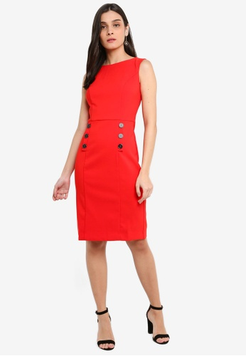 FORCAST red Davina Sleeveless Dress EF357AA778BBFEGS_1