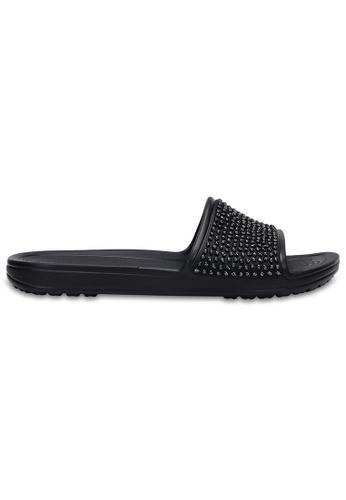 404ff8498e0f Crocs black Women s Crocs Sloane Embellished Slides Blk Blk CR883SH0RMUYMY 1