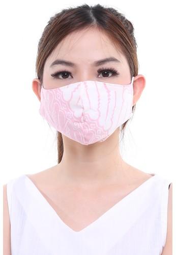 DhieVine Batik pink and multi Assorted Batik Encim Pink Series EAR-LOOP Facemask (3PCS) FC9C7ESCAD3804GS_1