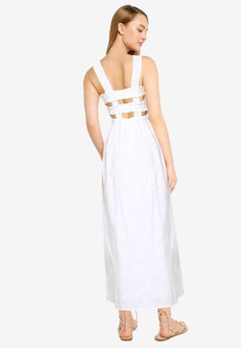 Cotton On white Woven Thea Strappy Open Back Midi Dress A5895AAAD21AC7GS_1