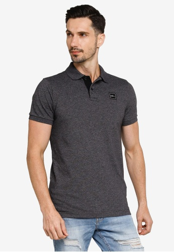 Hollister grey Core Exploded Icon Patch Polo Shirt BBE98AA0327712GS_1