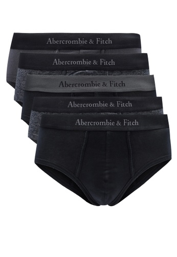 Abercrombie & Fitch grey and multi 5-Pack Solid Briefs 2FC75US6FB92D3GS_1