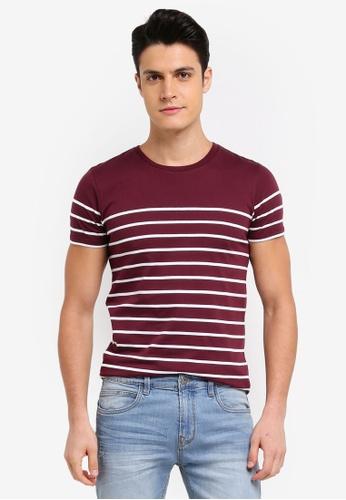 Penshoppe red Striped T-Shirt 8D079AAD018AFCGS_1