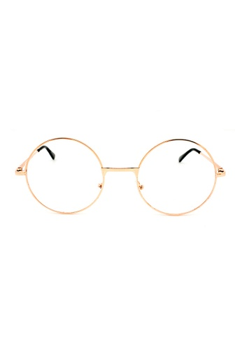 Elitrend black and gold Round Metal Glasses with Rose Gold Frame 536FCGL6C34B89GS_1