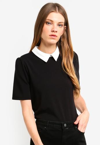ESPRIT black 3/4 Sleeve T-Shirt D0C77AA1F5C609GS_1