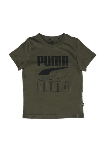 PUMA green Rebel Bold Tee 49E06KADEF12FAGS_1
