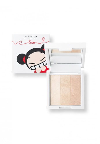 Pucca pink and beige and gold Love Edition Shine Up Finish #3in1 PU312BE51SVWSG_1