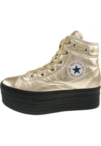 Maxstar Maxstar Women's C50 020 Lace Up  Platform TC High Top Sneakers US Women Size MA168SH19ZZSHK_1