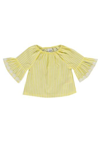 LC Waikiki yellow Baby Girl's Striped Poplin Blouse A62A7KA96F09DAGS_1