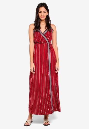 Something Borrowed red Wrap Cami Maxi Dress 9D214AA65A93E5GS_1