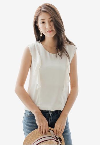 8d2112453871e3 Shop Tokichoi Ruffle Sleeveless Top Online on ZALORA Philippines
