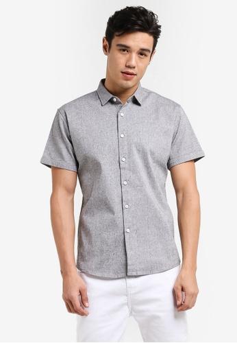 JAXON grey Small Motif Short Sleeve Shirt C4B4CAAA27656DGS_1