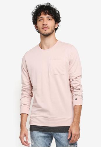 JAXON pink Two Tier Sweatshirt D80CEAA1C756D7GS_1
