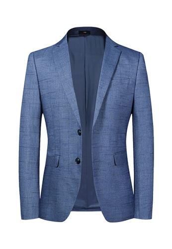 HAPPY FRIDAYS Casual Slim Textured Suit 2020 8ABD9AA142FFBAGS_1