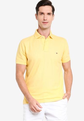 Tommy Hilfiger 黃色 Essential Regular Fit Polo Shirt B6F0AAA2A9DD1AGS_1