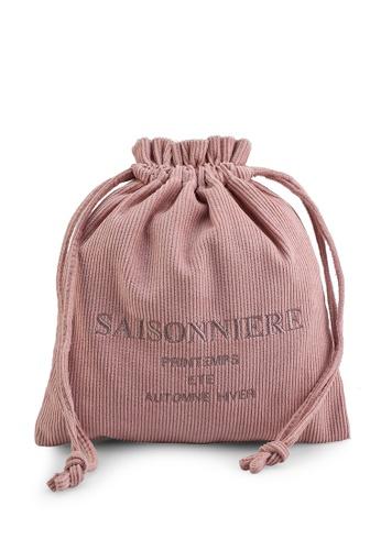 LOWRYS FARM pink Embroidery Drawcord Handbag B93C6ACFCE878AGS_1