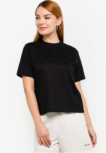 H&M black Cotton T-Shirt 6343AAAB795D62GS_1
