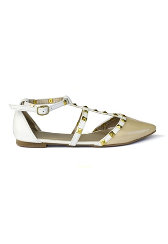 HDY white and beige Hdy's Valerie Flats HD484SH27NRCPH_1