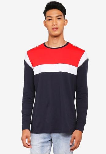 Cotton On multi and navy TBar Long Sleeve T-Shirt C19F3AA7BA38BAGS_1