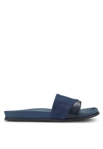 ZALORA navy Two Tone Sliders 676CESH93A42C5GS_1