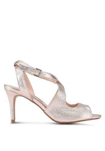 Dorothy Perkins gold Gold Blaze Peep Toe Sandals 849F1SHB8F559DGS_1