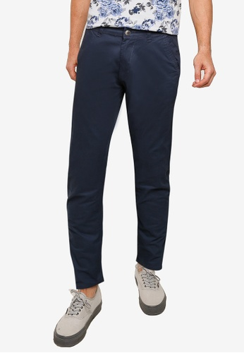 threads by the produce blue Stretch Chino Pants 7DD9AAAF033A8DGS_1